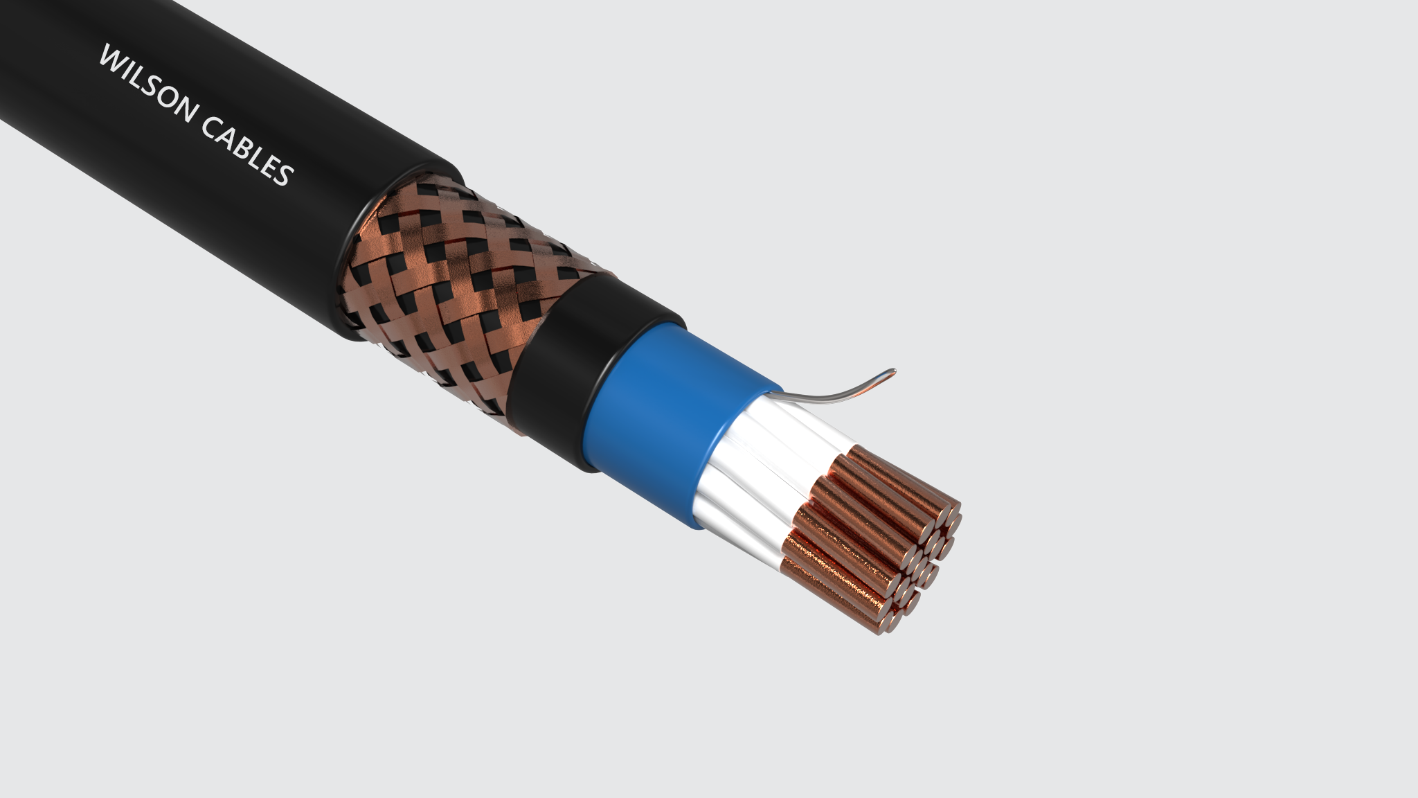 MIM-200Q / MIM-200C LSOH Sheathed Shipboard Braided Instrumentation Cables