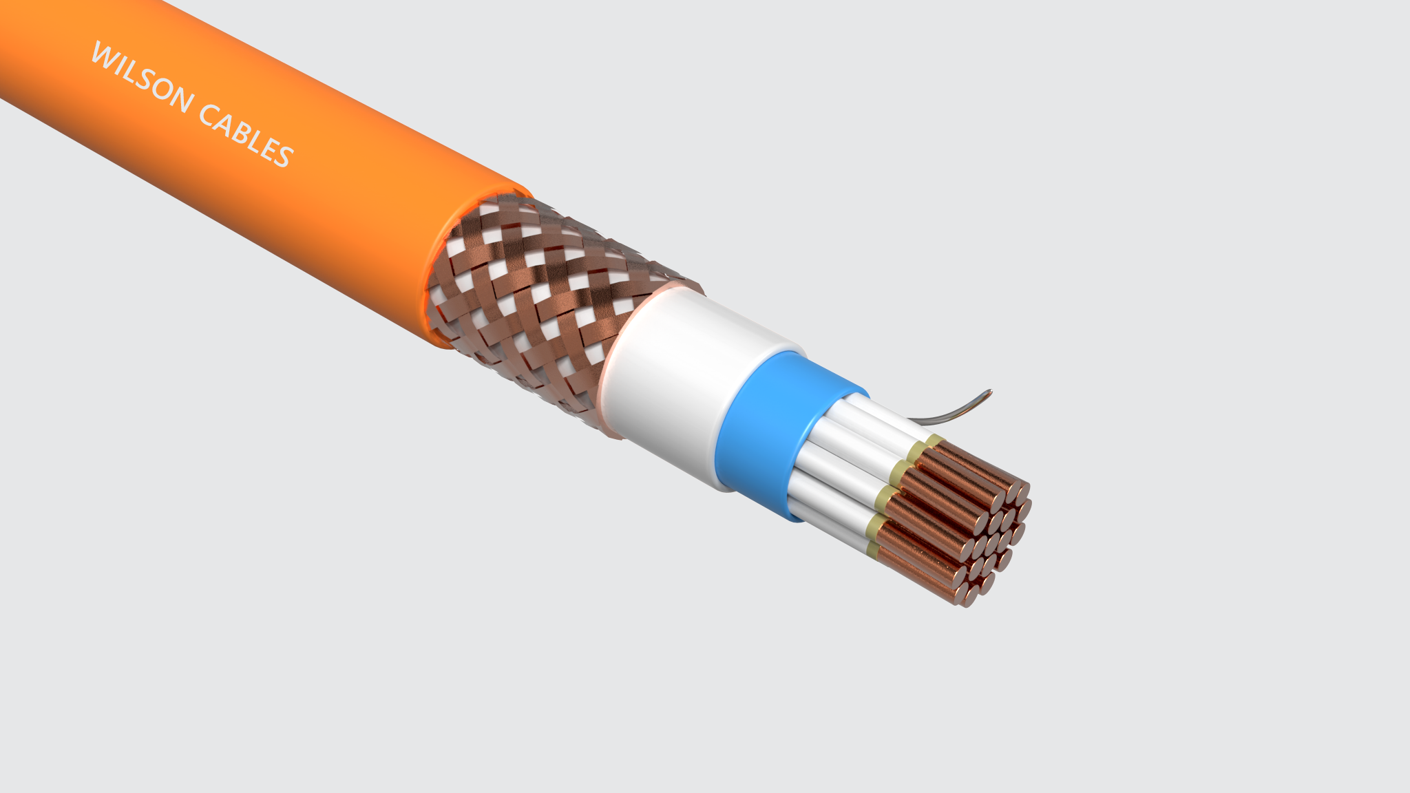 FRIM-200Q-M (SST) / FRIM-200C-M (SST) Fire Resistant Shipboard Braided Instrumentation Cables