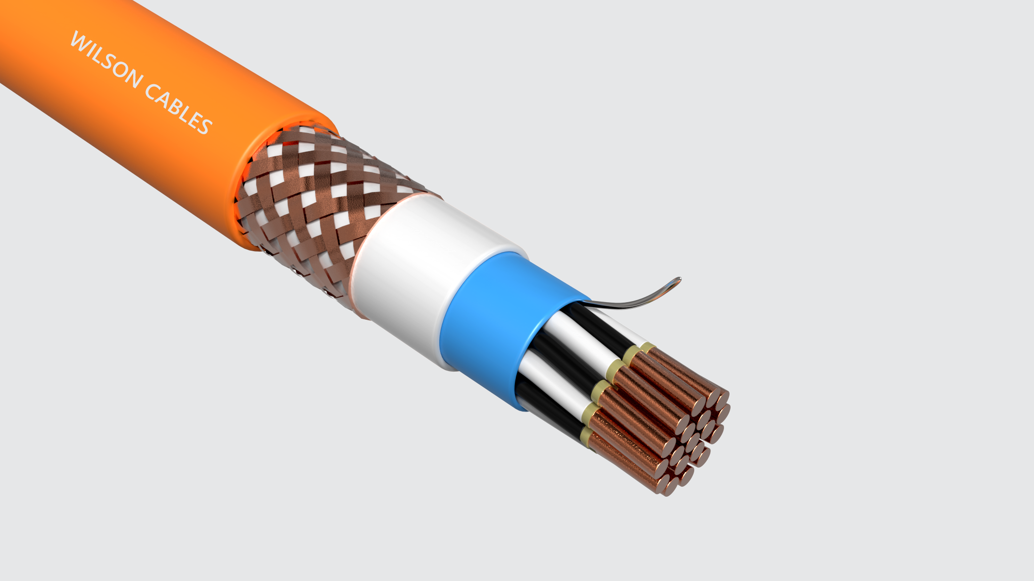 FRIC-200Q-M (SST) / FRIC-200C-M (SST) Fire Resistant Shipboard Braided Instrumentation Cables