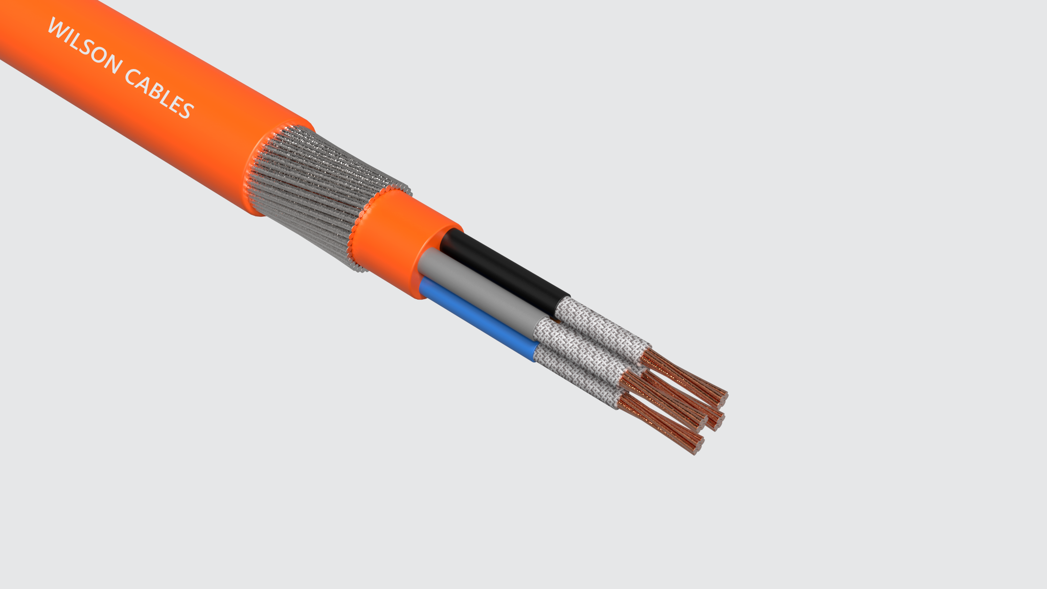 FR-200A or FR-300A Fire Resistant Armoured Power Cables